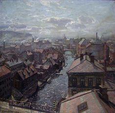 Thorolf Holmboe (1866-1935), Utsikt over Akerselven, 1903