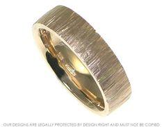 Bespoke 9ct yellow/rose gold hammered wedding band