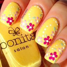 Flowers do not always open, but the beautiful Floral nail art is available all year round. Choose your favorite Best Floral Nail art Designs 2018 here! We offer Best Floral Nail art Designs 2018 .If you're a Floral Nail art Design lover , join us now ! Fingernail Designs, Cute Nail Art Designs, Nail Designs Spring, Pedicure Designs, Nail Art Flower Designs, Easter Nail Designs, Spring Nail Art, Spring Nails, Summer Nails