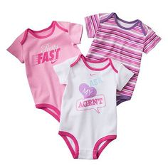 Nike 3-pk. Bodysuits - Baby