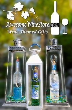 Do you need a #candle for your #patio? #Recycle your coolest bottles into a #lantern.