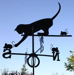 Cat and mouse weather vane......for the top of the house!