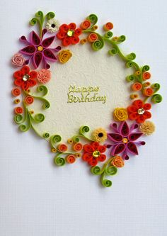 Quill a card. Paper Quilling Jewelry, Origami And Quilling, Quilled Paper Art, 3d Quilling, Quilling Paper Craft, Quilling Patterns, Quilling Cards, Quilling Designs, Paper Crafts