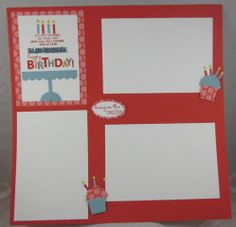 scrapbooking page layout with stampin up stamps | Stampingroxmyfuzzybluesox: Scrapbook Pages Are Just Big Cards!