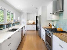3d galley kitchen design - Google Search
