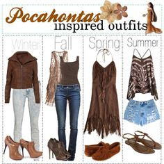 """""""Pocahontas inspired fashion"""" by shannonstyles on Polyvore"""