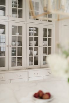 Not A Kitchen Tour. Tour. - Monika Hibbs Glass Kitchen Cabinets, Brass Kitchen Faucet, Old World Kitchens, Beach House Kitchens, Benjamin Moore Kitchen, Farrow And Ball Kitchen, Country Look, England Houses, Kitchen Layout