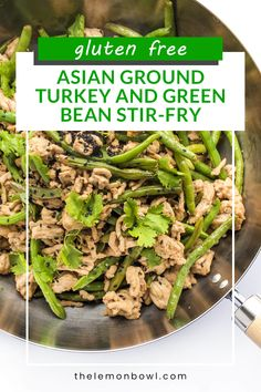 A quick and easy gluten-free and healthy Asian stir-fry recipe with green beans, ground turkey, ginger and hoisin. On the table in 30 minutes or less. Easy Turkey Recipes, Gluten Free Recipes For Dinner, Dairy Free Recipes, Dinner Recipes, Chinese Mixed Vegetables, Turkey And Green Beans, Healthy Asian Recipes, Asian Stir Fry
