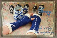 193 Mitones con Listones / Fingerless Mitts with Lace  MItones Tejidos con Liston / Knitting Fingerless Mitts with Lace  https://www.facebook.com/Ferny.HechoAMano/photos/pb.269222416525542.-2207520000.1423069570./689305251183921/?type=3&theater