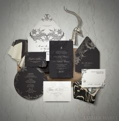 Game of Thrones Wedding Invitation inspired by House Baratheon  by Atelier Isabey