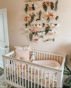 10 best Boho Nurseries to inspire you! - We have collected the best 10 Boho nurseries to show the fabric, furniture, and accessories to use i - Diy Nursery Decor, Baby Girl Nursery Decor, Boho Nursery, Baby Room Decor, Baby Girl Nurseries, Nursery Ideas, Baby Room Neutral, Nursery Neutral, Baby Room Design