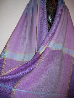 Handwoven, Hand Dyed Silk Shawl, Accessories Woven by Tisserande. $250.00, via Etsy.