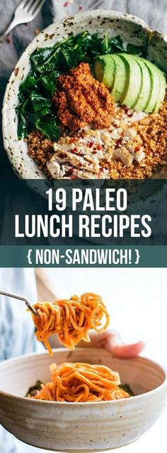 NO SANDWICHES PLZ! 19 Non-sandwich Paleo lunch recipes that will keep you healthy and happy! All recipes are easy to make too!