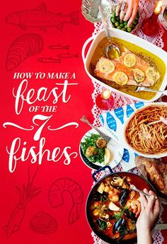 How To Cook A Real Feast Of The Seven Fishes - would love to do this for Christmas Eve some day! Salmon Recipes, Fish Recipes, Seafood Recipes, Cooking Recipes, Cooking Games, Recipies, Cooking Icon, Cooking Videos, Cooking Classes