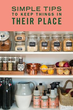 Nothing feels as good as a tidy pantry. A clean pantry means a clear mind – and with all the information coming at us all day, a clear mind is a real gift. We've got some easy tips to clean, clear and organize. It's a simple way to rejuvenate your home life — and it cane pretty therapeutic too.