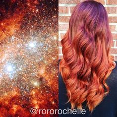 Cute Galaxy Colored Hair