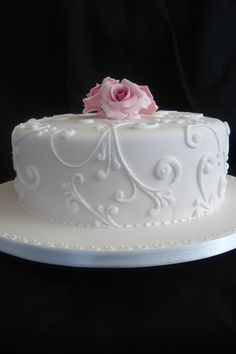 Simple Wedding Cakes On Single Tier Cake Decorating  cakepins.com