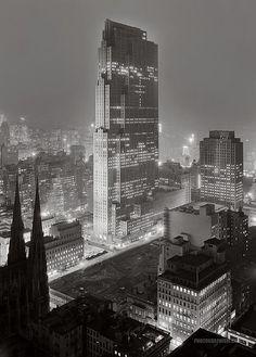 Rockefeller Center and RCA Building: New York City, New York 1933 December 5