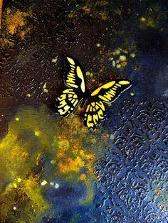 Mirre´s scraphörna: Canvas i svart och gult...