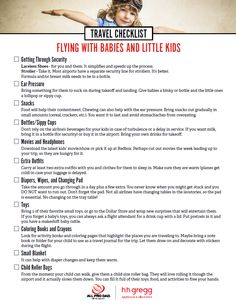 Flying with little ones this summer? If so, read All Pro Dad's checklist to help prepare you for your family travels.