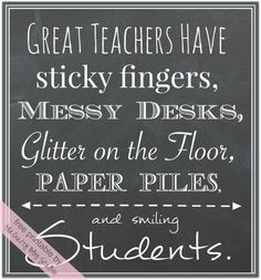 Great Teacher Free Printables