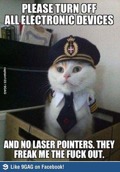No laser pointers please