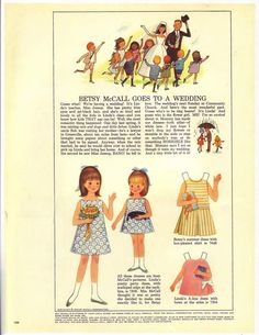 1965 june/ betsy mccall-Mom would use some of these McCall's patterns for my dresses.