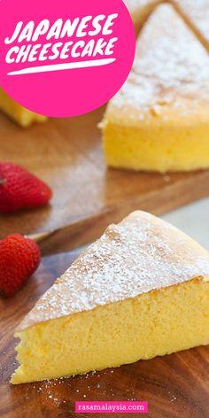 Japanese Cotton Cheesecake, Japanese Cheesecake Recipes, Rasa Malaysia, Cupcake Icing, Soft Light, Dessert Recipes, Desserts, Quick Easy Meals, Vanilla Cake