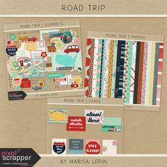 Road Trip Bundle | digital scrapbook | travel, road trip, summer, camping