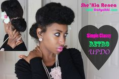 Classy, Retro Updo!- Natural Hair Styles | Curly Nikki | Natural Hair Care