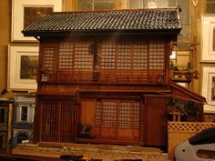 A restored and large, two-story Japanese doll house with lighting and more, lots more pics in flickr album!