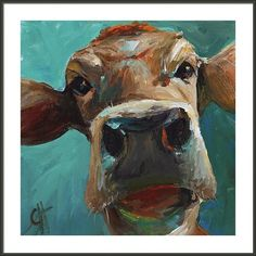 Elise The Cow Framed Print By Cari Humphry