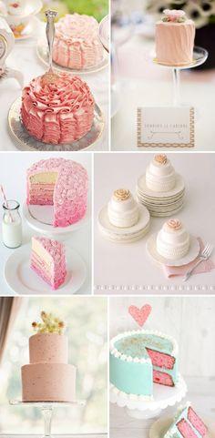 diferentes tartas en diferentes colores