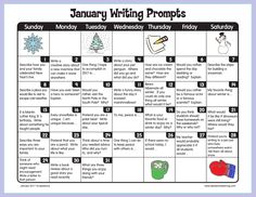 January Writing Prompts!