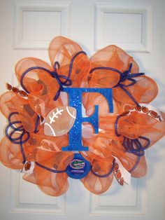 Florida Gators wreath by HaloDesignInteriors on Etsy, $69.00