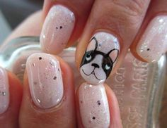 Some people may think of beauty accessories to be makeup and hairstyles; yet nail art fashion accessories can be added to this number as well for adding to your entire look by incorporating added glow and elegance to your hands. Dog Nail Art, Animal Nail Art, Animal Nail Designs, Gel Nail Designs, Gem Nails, Hair And Nails, Cute Nails, Pretty Nails, Nail Equipment