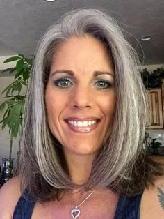 I love that more and more women of all ages are deciding that their natural hair is fabulous. Whether it's grey, silver, or white it's all gorgeous!