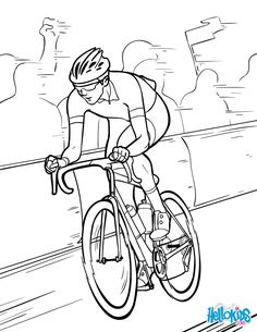 Tour de France coloring page. Would you like to offer the most beautiful Tour de France coloring page to your friend? Football Coloring Pages, Sports Coloring Pages, Bible Coloring Pages, Coloring Pages For Boys, Coloring Pages To Print, Free Printable Coloring Pages, Coloring Sheets, Coloring Books, Disney Princess Coloring Pages