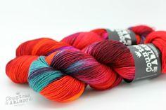 Mutually Assured Destruction on Lady Persephone Sock Yarn. http://ift.tt/1KZ2I2O . . . #countessablaze #yarn #yarnporn #indiedyer #knitting #crochet #weaving #britishwool #textiles