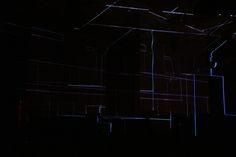 Glasmalerhaus Fest Zürich Neon Signs, Light Installation, Short Throw Projector, Corning Glass