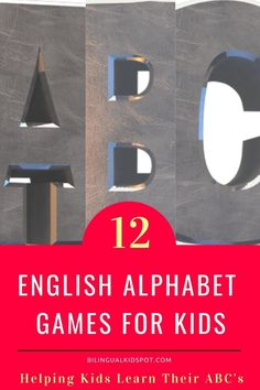 Fun English Alphabet Games for Kids to learn their ABC's Alphabet Games, Teaching The Alphabet, Fun Activities For Kids, Games For Kids, Learning Through Play, Kids Learning, Kids English, English Alphabet, Messy Play