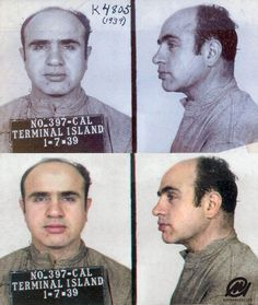 Al Capone arrived at the Federal Correctional Institution at Terminal Island in California - 7 January Gangster Quotes, Real Gangster, Mafia Gangster, Einstein, Female Hormone Imbalance, Famous Outlaws, Celebrity Mugshots, Mafia Crime, Chicago Outfit