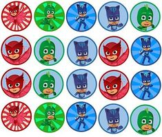PJ Mask Edible Image inch Cookie or Cupcake Topppers in Home & Garden, Kitchen, Dining & Bar, Cake, Candy & Pastry Tools Pj Masks Cake Topper, Pj Masks Cupcake Toppers, Pj Mask Cupcakes, Decoracion Pj Mask, Pj Masks Images, Pj Max, Pj Masks Printable, Pjmask Party, Ben E Holly