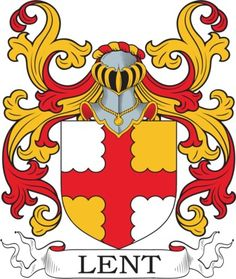 Lent Family Crest and Coat of Arms