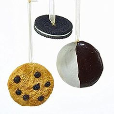 ... filled, Chocolate Chip And Black And White Cookie Christmas Ornaments