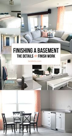 Tips and Great Advice for Finishing a Basement!  Make your home improvement project go smoother with these tips for DIY and hiring out the work.  landeelu.com