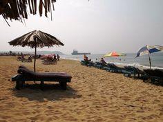 Candolim Beach - North Goa Goa India, Wonderful Places, Us Travel, Sun Lounger, Patio, Holidays, Beach, Outdoor Decor, Pictures