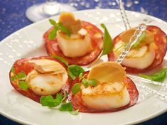 Scallops, chorizo and strips of foie gras: discover the cooking recipes of Femme Actuelle Le MAG - Florette Narraway Foie Gras, Scallops And Chorizo, Breakfast Recipes, Dinner Recipes, Coquille Saint Jacques, Scallop Recipes, Entrees, Food Porn, Food And Drink