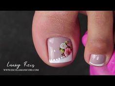 Gel Nail Kit, Gel Nails, Nail Polish, Cute Toe Nails, Cute Toes, French Nails, Manicure And Pedicure, Nail Designs, Lily