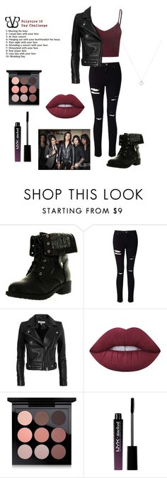 """""""Meeting the Boys"""" by an-internet-girl ❤ liked on Polyvore featuring Refresh, Miss Selfridge, IRO, Lime Crime, MAC Cosmetics, NYX, BVB, BLACKVEILBRIDES, challenge and polyvorechallenge"""